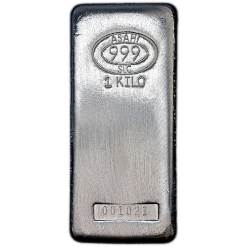 Buy 1 Kilo Asahi Silver Bars Salt Lake City Silver Com