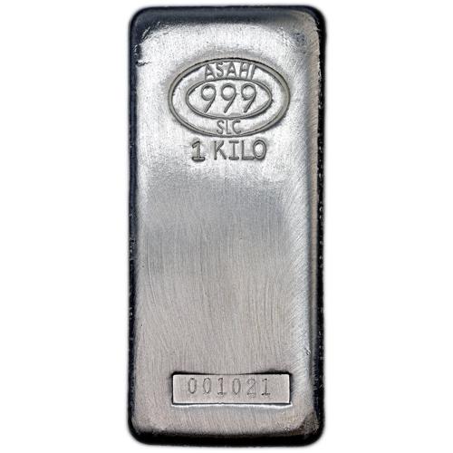 Buy 1 Kilo Asahi Silver Bars Salt Lake City Silver Com