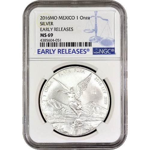 Buy 2016 1 Oz Mexican Silver Libertads Ngc Ms69 Er