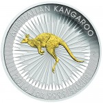 2016-1-oz-silver-gilded-australian-silver-kangaroo-rev