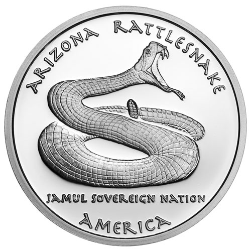 2016 1 Oz Proof Silver Arizona Apache Rattlesnake Coins