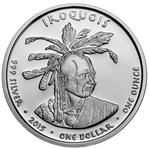 2015 1 Oz Proof Silver Pennsylvania Iroquois Skunk Coins