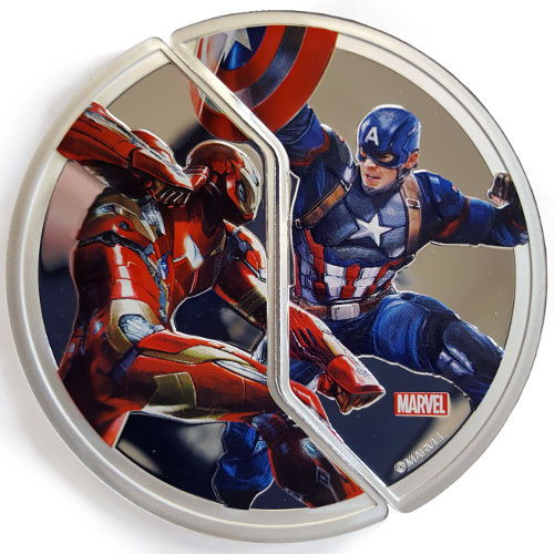 2016 6-Ounce Proof Silver Fiji Captain America Coin Sets