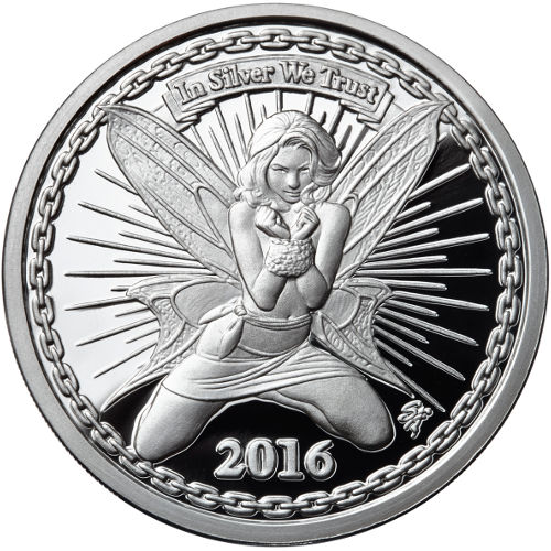 Buy 5 Oz Proof Silverbug Silver Alyx The Fairy Rounds