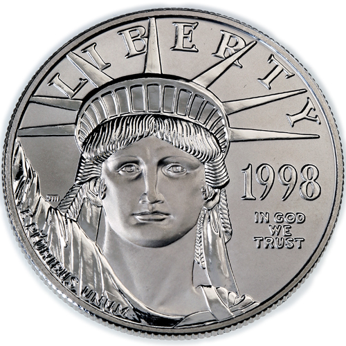 Buy 1998 1 Oz Platinum American Eagle Coins Online