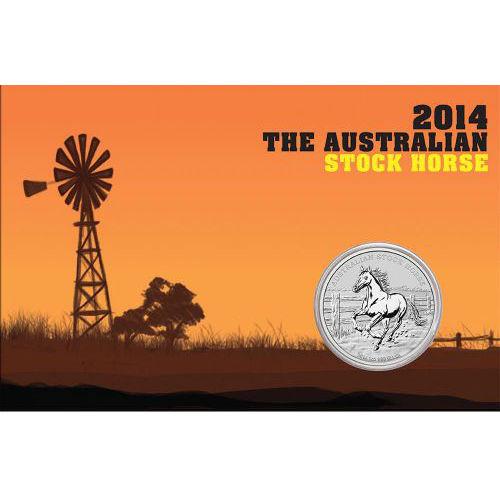 Silver Coin uncirculated 2016 Australian Stock Horse 1oz
