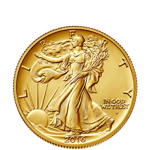 2016 1 2 Oz Gold American Walking Liberty Half Dollar
