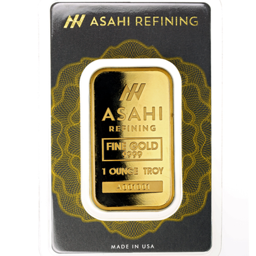 Buy 1 Oz Asahi Gold Bars New Silver Com