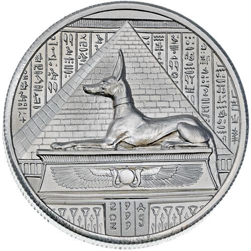 2 Oz Elemetal Egyptian God Series Anubis Silver Rounds