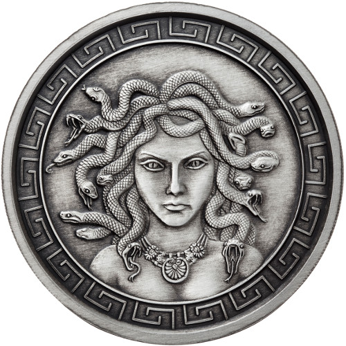 Buy 5 Oz Silver Antique Medusa Rounds Silver Com