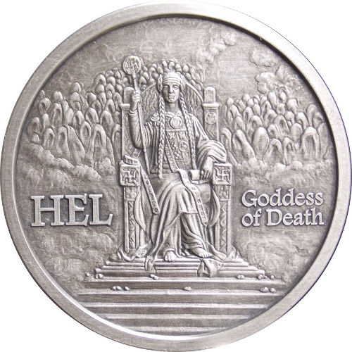 Buy 5 Oz Silver Antique Norse God Series Hel Rounds