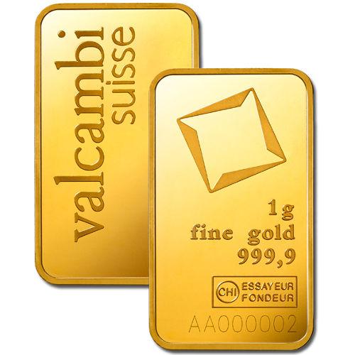 Buy 1 Gram Valcambi Gold Bars New In Assay Silver Com
