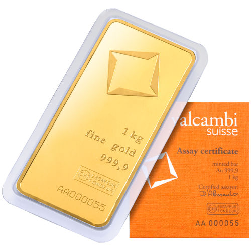 Buy 1 Kilo Valcambi Gold Bars - Silver.com