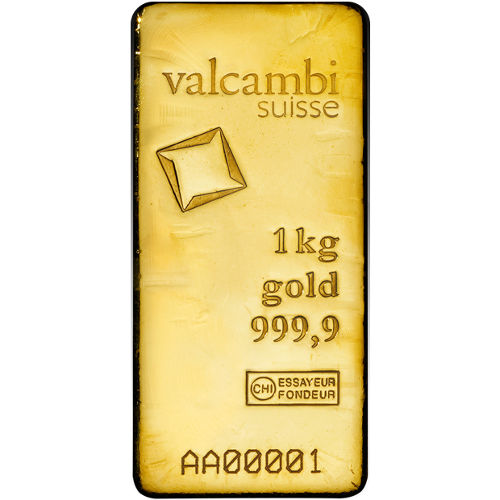 Buy 1 Kilo Valcambi Cast Gold Bars Silver Com