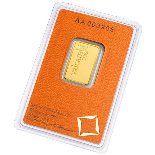 Buy 10 Gram Valcambi Gold Bars New In Assay Silver Com