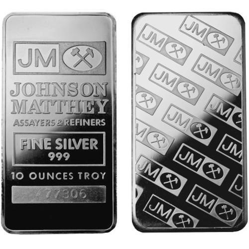 10 Oz Johnson Matthey Silver Bars Secondary Market