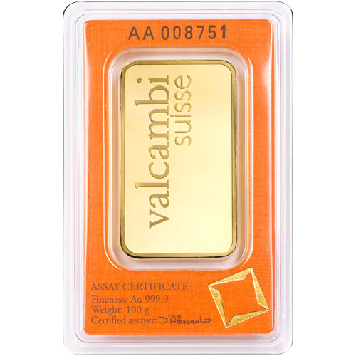 Buy 100 Gram Valcambi Gold Bars Silver Com