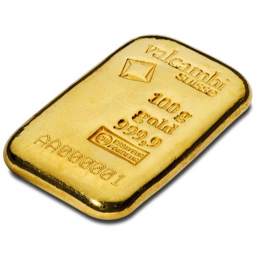 Buy 100 Gram Valcambi Cast Gold Bars Silver Com