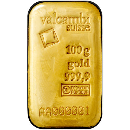 Buy 100 Gram Valcambi Cast Gold Bars Silver Com