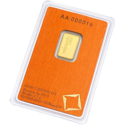Buy 2 5 Gram Valcambi Gold Bars New In Assay Silver Com