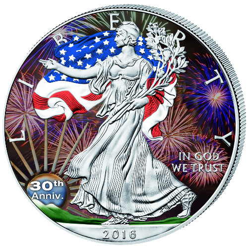 Buy 2016 Colorized Silver American Eagle Bullion Coins