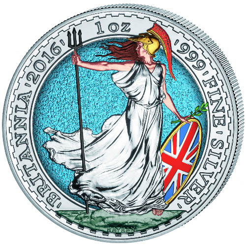Buy 2016 Colorized Silver British Britannias 999 Bu