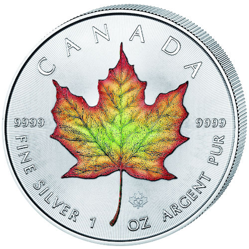 Buy 2016 1 Oz Colorized Silver Canadian Maple Leafs
