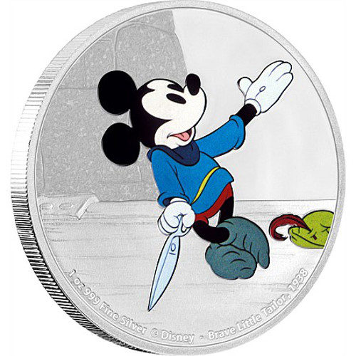 2016 1 Oz Silver Niue Mickey Mouse Brave Little Tailor