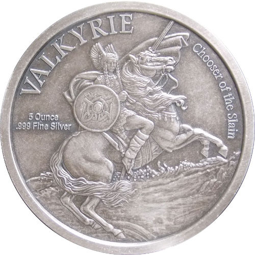 Buy 5 Oz Silver Antique Norse God Series Loki Rounds