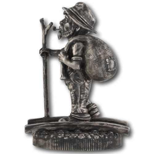 Buy 2016 10 Oz Silver Antique Finish Hobo Nickel Statues