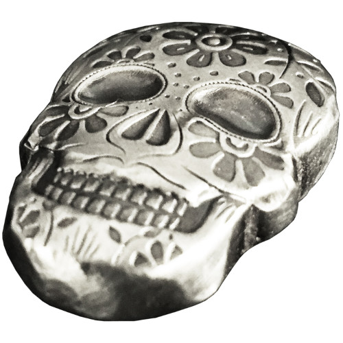 Buy 2 Oz Monarch Day Of The Dead Silver Skulls Silver Com