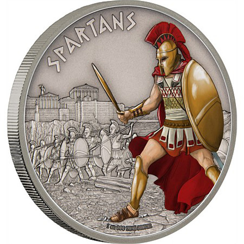 2016 Silver Niue Warriors Of History Spartan Proof Coins