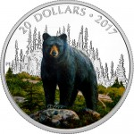 2017-1-oz-proof-canadian-silver-majestic-aniamls-bold-black-bear-rev