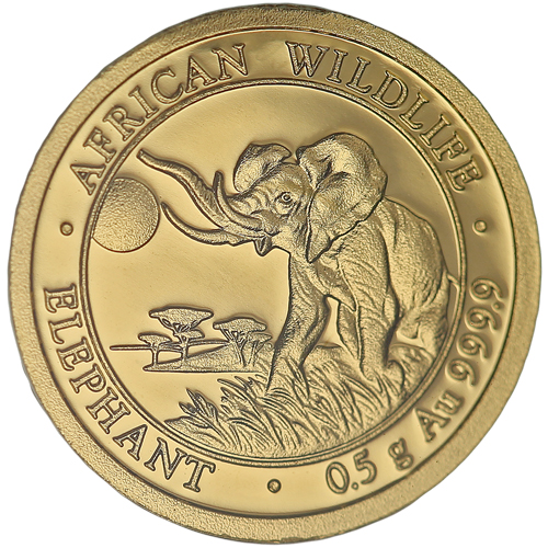 Buy 2016 1 2 Gram Gold Somalian Elephant Coins 9999 Pure
