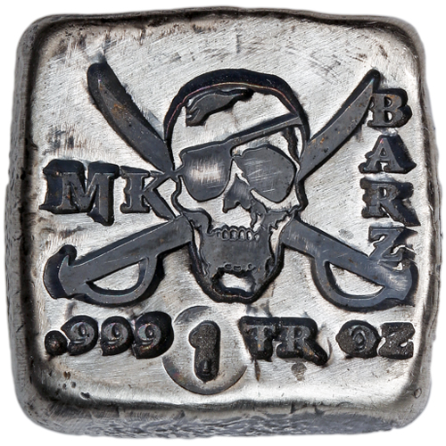 Buy 1 Oz Mk Barz Pirate Silver Squares Silver Com