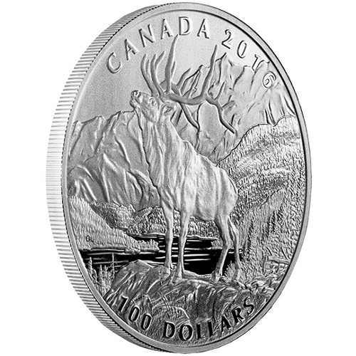 Buy 2016 1 Oz 100 Proof Silver Canadian Noble Elk Coins