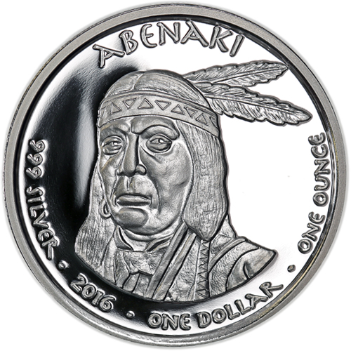 1 Oz Fine Silver One Dollar 2016