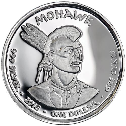 Buy 2016 1 Oz Proof Silver New York Mohawk Raccoon Coins