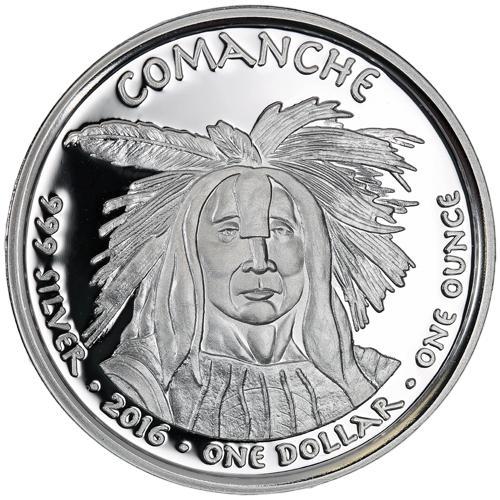 Buy 2016 1 Oz Proof Silver Texas Comanche Longhorn Coins