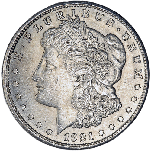 Buy 1921 Morgan Silver Dollars In Au Condition 90