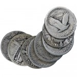 90-Silver-Standing-Liberty-Quarters-$10-Roll-COINS