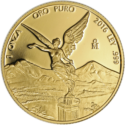 2016 1 Oz Proof Gold Mexican Libertad Coins In Capsule