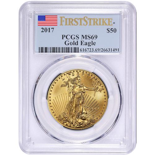 Buy 2017 1 oz Gold American Eagles PCGS MS69 FS - Silver.com