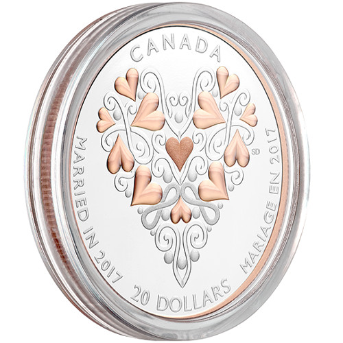 Wedding 2020 1oz Silver Proof Coin: Buy 2017 1 Oz Proof Silver Canadian Wedding Day Coins