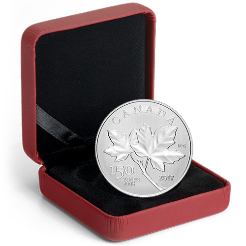 2017 1 2 Oz Silver Canadian 150th Birthday Maple Leaves