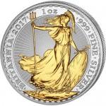 2017-1-oz-british-silver-britannia-coin-gilded