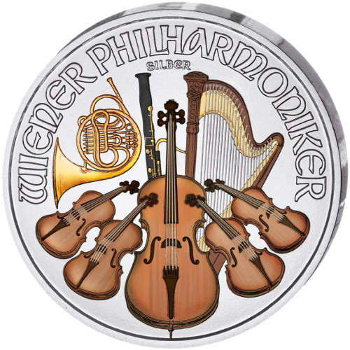 Buy 2017 1 Oz Colorized Silver Austrian Philharmonics