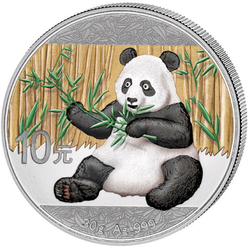 Buy 2017 30 Gram Colorized Silver Chinese Pandas Silver Com