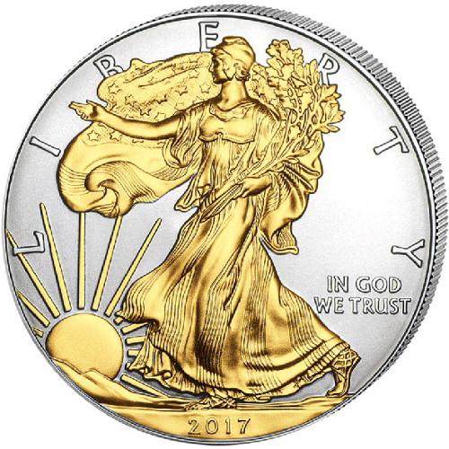 Buy 2017 1 Oz Silver American Eagle Coins Gilded Bu