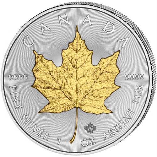 Buy 2017 1 Oz Silver Canadian Maple Leaf Gilded Coins